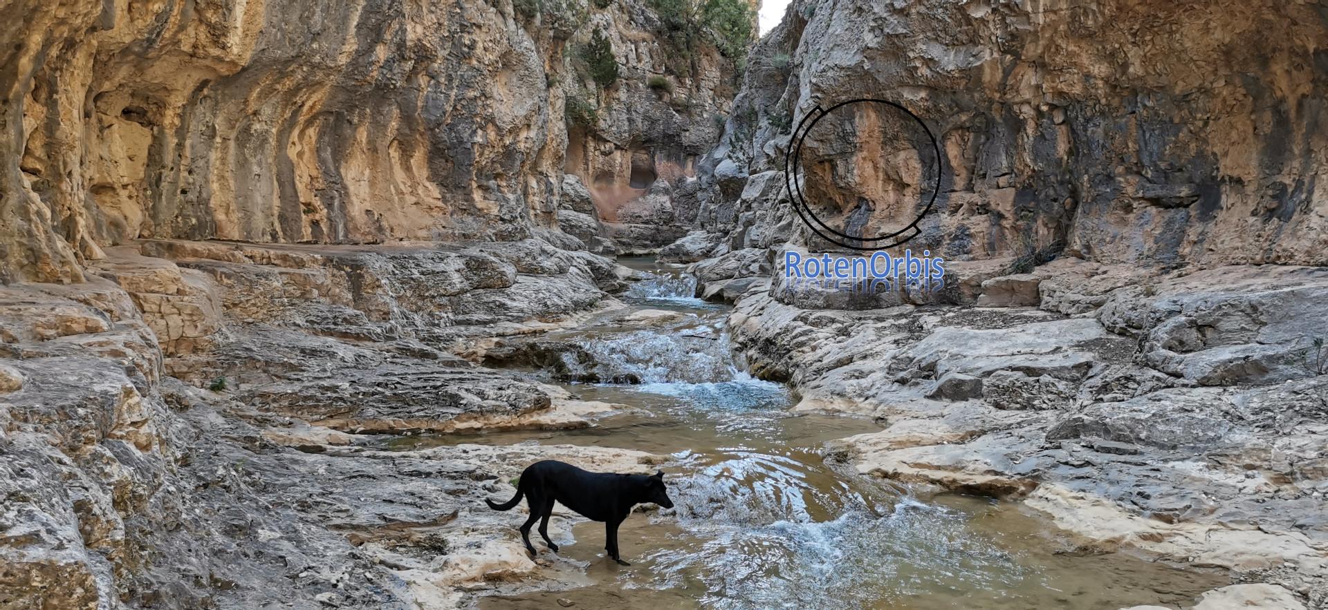 Curso del Río de la Rambla dentro del cañón
